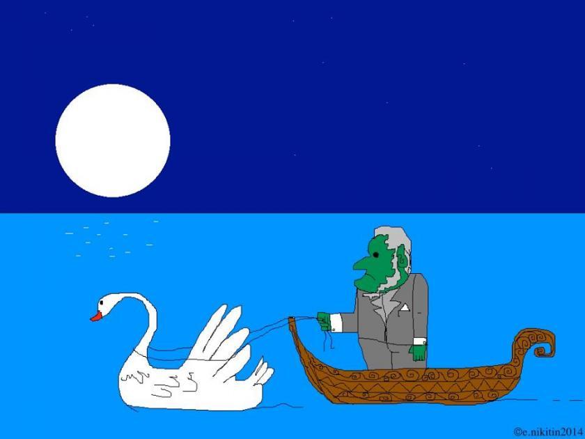 Richard Wagner walks a swan part 1