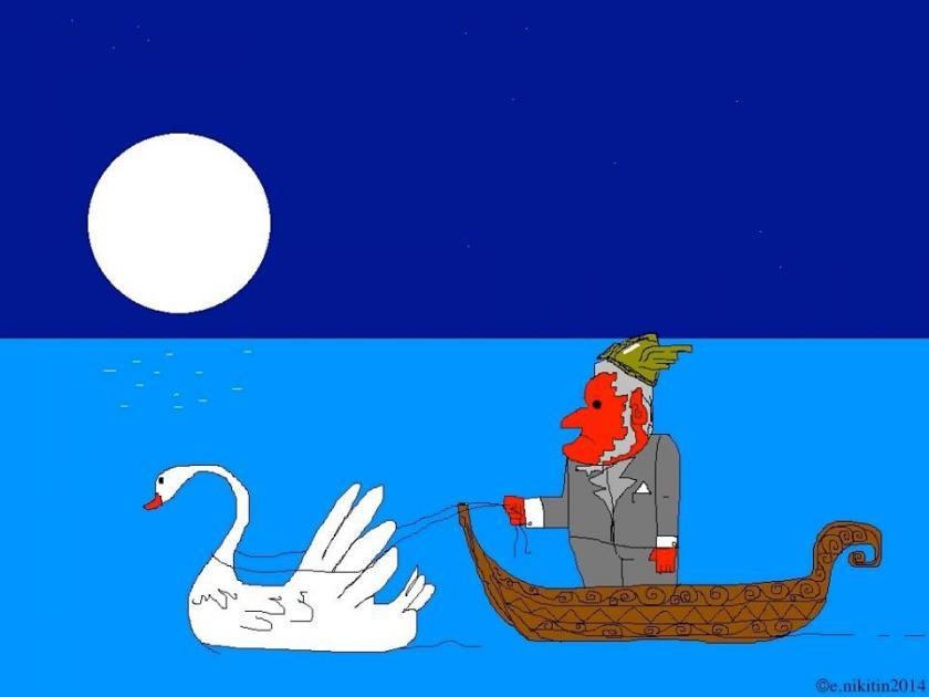 Richard Wagner walks a swan part 2